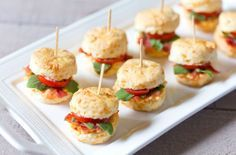 Delicious Finger Sandwiches Perfect For Afternoon Tea Mini Pimento BLT Cheddar Biscuits will be a crowd pleaser at your next tea party!Mini Pimento BLT Cheddar Biscuits will be a crowd pleaser at your next tea party! Mini Sandwiches, Tea Party Sandwiches Recipes, Finger Sandwiches, Sandwich Recipes, Afternoon Tea Recipes, Afternoon Tea Parties, Party Snacks, Appetizers For Party, Mini Sandwich Appetizers