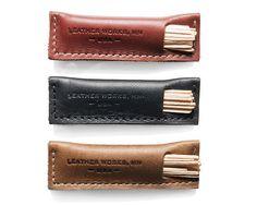 Leather Toothpick Holder - Kaufmann Mercantile. 牙簽套