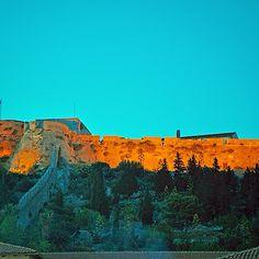 Hvar fortress in twilight, Dalmatia, Croatia Dalmatia Croatia, Adriatic Sea, Twilight, Monument Valley, Coast, Nature, Travel, Voyage, Viajes