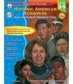 #CDWishList Hispanic American Achievers Resource Book - Carson Dellosa Publishing Education Supplies