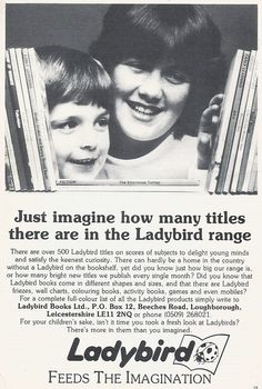 advert for Ladybird Books Vintage Advertisements, Ads, Book News, Ladybird Books, Vintage Books, Book Design, Wonders Of The World, Penguin, Book Covers