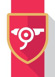 Minimalist Arsenal Gunners Logo | Futbol Artist Network