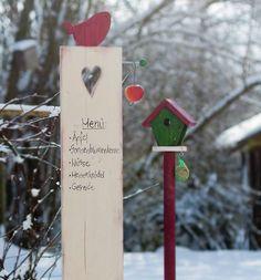 15 Holzdekorationen aus Garten-Stelen für den Winter Mit diesen Dekorationen aus Holz für Ihren Garten oder Eingangsbereich bringen Sie Farbe ins winterliche Einerlei. Die gezeigten Garten-Stelen sind in verschiedenen Techniken...