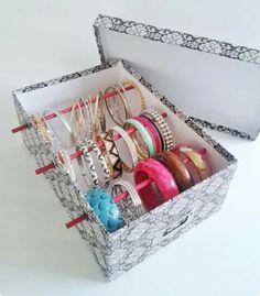 Items similar to Bangle Bracelet Storage Box for Jewelry Box Bangle Box Jewelry Holder Bangle Display Bangle Bracelet Jewelry Bracelet Box Free US Shipping on Etsy – Diy Jewelry İdeas Bangle Box, Bracelet Box, Bracelet Display, Bangle Bracelets, Bracelet Holders, Diy Bracelet Storage, Bracelet Organizer, Necklace Storage, Craft Ideas