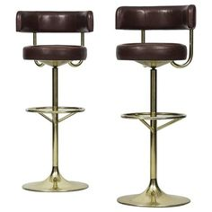 Börje Johansson Bar Stools by Johansson Design in Sweden | From a unique collection of antique and modern stools at https://www.1stdibs.com/furniture/seating/stools/