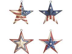 Americana Star Ornament Set