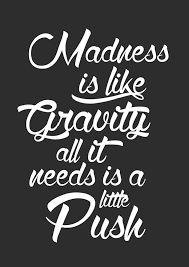 Image result for joker quotes madness like gravity