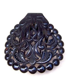 Victorian Hair Comb Circular Pre Ban by DragonsLairVintage on Etsy