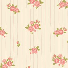 pink posies wrapping paper - bec nolan x love mae