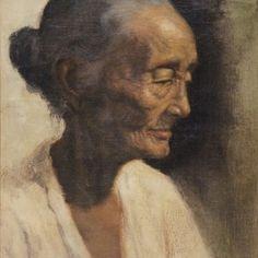 Dullah, Nenek undated, Oil on canvas, 38cm x 50cm. Sold