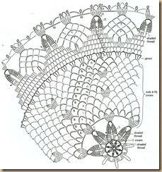 Tischdecke häkeln - crochet doily 5