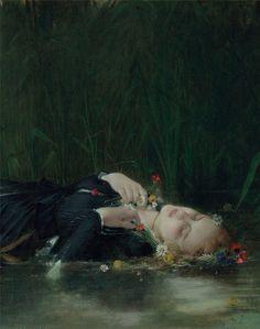 Jean-Baptiste Bertrand (1823-1887) Ophelia