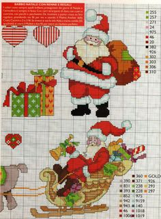 1 Cross Stitch Christmas Cards, Santa Cross Stitch, Christmas Cross, Counted Cross Stitch Patterns, Cross Stitch Charts, Cross Stitch Designs, Cross Stitch Embroidery, Merry Christmas, Cross Stitch Gallery
