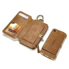 Luxury Retro Wallet Phone For iPhone 7 7 Plus Xs Max Xr Leather Handbag Bag Cover For iPhone X 7 8 Case Coque Iphone 7, Best Iphone, Iphone Cases, Iphone Leather Case, Iphone Wallet Case, Leather Wallet, Iphone Models, 6s Plus, Leather Handbags