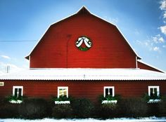 The halls have been decked at Beekman 1802... There is just something about a red barn!