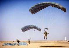 Marines make a soft landing in Jordan.  (U.S. Marine Corps photo by Sgt. Christopher Q. Stone/Released)