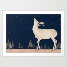 Winter is coming Art Print by Gabriella Barouch | Society6