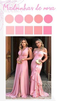 Pink Bridesmaid Dresses Long, Wedding Bridesmaid Dresses, Pink Dress, Rose, Beautiful Dresses, Dream Wedding, Outfit, Marriage, Wedding Inspiration