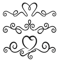 Calligraphic floral elements vector 1460223 - by brankica on VectorStock�