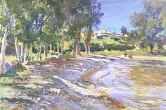 TREES IN ART • L'ARBRE DANS L'ART | John Singer Sargent (Am. 1856-1925), San Vigilio,...