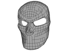 Life Size Skull Mask Papercraft for Halloween Free Template Download - http://www.papercraftsquare.com/life-size-skull-mask-papercraft-for-halloween-free-template-download.html#Halloween, #LifeSize, #Mask, #Skull