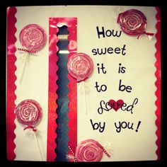 Valentine bulletin board~pre-k