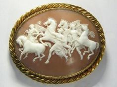 ⊙ Cameo Cupidity ⊙  Horses & Muses, c. 1870