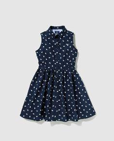 Vestido de niña Gant en azul con estampado