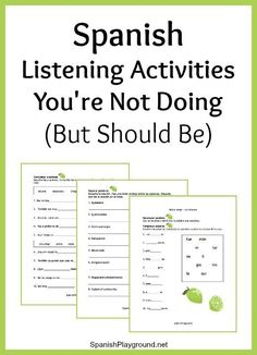 Spanish listening activities make the most of a video, song or story. Listening activities to focus on syllables, words and sentences before you start. Spanish Lessons For Kids, Spanish Basics, Spanish Lesson Plans, French Lessons, Spanish Classroom Activities, Spanish Teaching Resources, Spanish Language Learning, Spanish Worksheets, Spanish Vocabulary