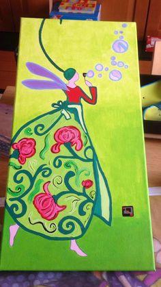 SERIE Gaelle, misura 60x30, acrilico, creo su commissione, tutto dipinto a mano, firmato e numerato sul retro visita la mia pagina: www.facebook.com/HoneyEli75