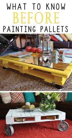 Read this before you start painting pallets, to insure your DIY project lasts!