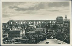 Bozdoğan Valens kemeri, 1920 civarı... Aqueduc de Valens, Constantinople.