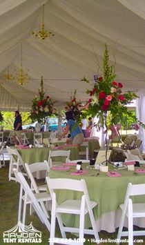 Hayden Tent Rentals Thomasville Wedding Reception