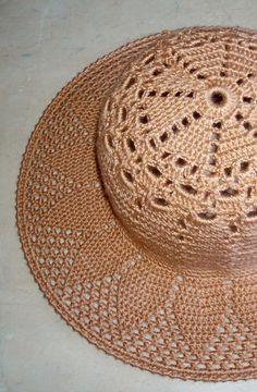 Best 12 Than Fedora Hat Crochet Pattern Free 15 – SkillOfKing. Crochet Summer Hats, Crochet Baby, Free Crochet, Sombrero A Crochet, Crochet Beanie, Crocheted Hats, Crochet Stitches, Crochet Patterns, Hat Patterns