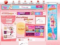 everythinggirl.com I still remember when this site bought all the girly sistes (Barbie, Polly Pocket, Doggy Daycare, etc.) and we played on this to earn points.