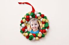 Homemade photo ornaments made by kids are the perfect holiday gift Photo Christmas ornaments kids can make This ornament 2 other ornaments Preschool Christmas, Christmas Crafts For Kids, Christmas Activities, Christmas Projects, Holiday Crafts, Christmas Ideas, Christmas Decorations, July Crafts, Photo Christmas Ornaments
