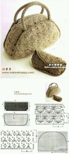 crochet bag by carole Bag Crochet, Crochet Clutch, Crochet Diy, Crochet Handbags, Crochet Purses, Love Crochet, Crochet Motif, Crochet Crafts, Crochet Stitches