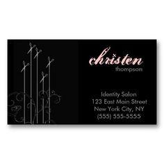 modern scissors business card templates