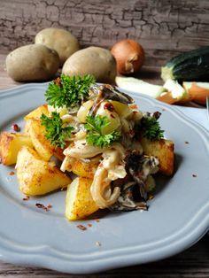 Pyry na Gaz: Smażone ziemniaki z kremowymi grzybami