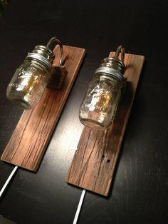 mason jar bedside lamp - Cerca con Google