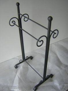 excelente porta toalla en hierro forjado