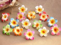 Wedding Party Decoration 6CM Artificial Hawaii PE Plumeria flower / Frangipani foam Flower diy craft