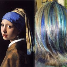 This Hairstylist Reinterprets Famous Paintings As Hair Colors