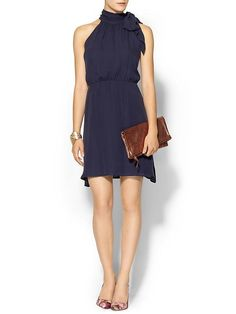 joie navy tie neck matilde dress // 25% off during Piperlime's designer sale with code 'DESIGNER'