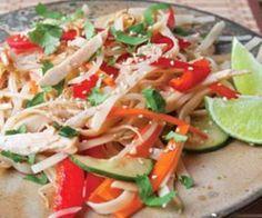 Gluten Free Thai Chicken Noodle Salad