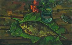 View Still life with fish by Vasily Belikov. Browse more art for sale at great prices. New art added daily. Buy original art direct from international artists. Shop now