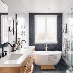 Home Interior Decoration Dream Bathrooms, Beautiful Bathrooms, Modern Bathroom, Small Bathroom, Master Bathroom, Master Baths, Shower Bathroom, Vanity Bathroom, Remodel Bathroom