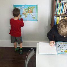 We've been studying animals from around the world. Between watching Wild Ones on Netflix and a book with all kinds of stickers and a map it's been a lot of fun. We found the book at the dollar store. I love that home schooling and learning doesn't have to be expensive. .  .  .  .  #homeschool #homeschoolmom #learning #hiphomeschooling #hiphomeschoolmoms #maps #animals #boymom #momofboys #thiftyhomeschooling #theslowpacedlife #theslowpace #nature #slowliving #brothers #teamwork