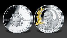 Ojciec Święty upamiętniony na medalu z 1 kg srebra