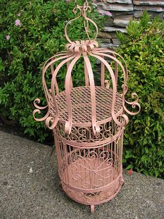 Pink birdcage by Maison Douce, via Flickr.
